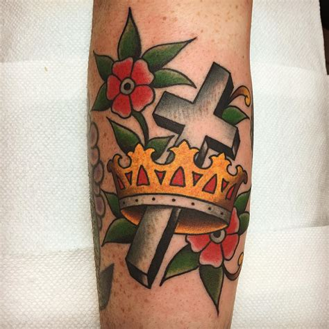 crown and cross tattoos school crown best ideas gallery