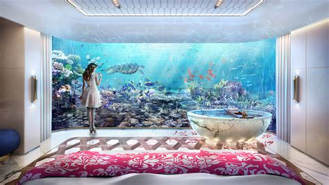 bedroom under water deep sleep floating seahorse villa features underwater