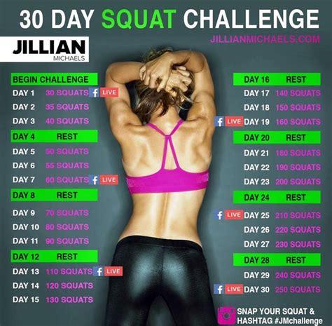 best 30 day squat challenge best 25 jillian ideas on jillian