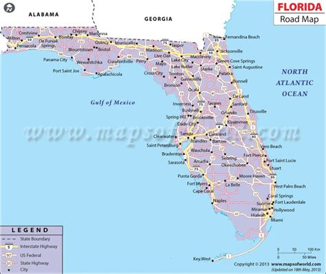 road map florida usa florida road map http www mapsofworld
