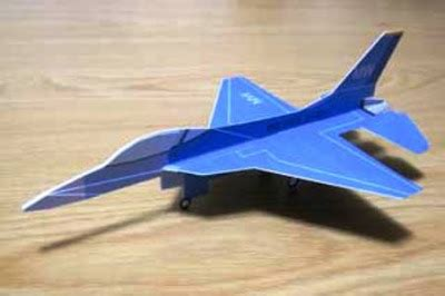 Origami F16 - origami mabikaze wing f16 paper airplane 3d cool origami