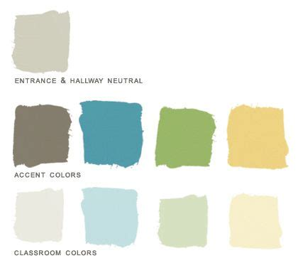 zen color preschool paint color palette created for a client who