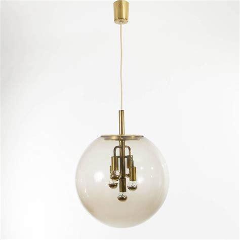 large glass globe pendant light large limburg pendant light brass and glass globe