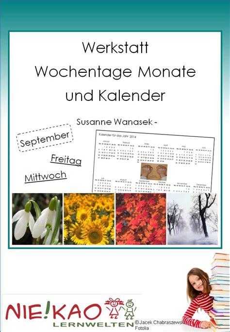 werkstatt kalender unterrichtsmaterial 220 bungsbl 228 tter f 252 r die grundschule