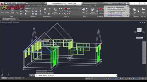tutorial for autocad autocad complete 3d house tutorial for beginners part 3