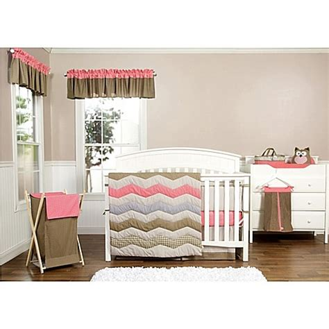 coral crib bedding sets buy trend lab 174 cocoa coral 3 crib bedding set from bed bath beyond