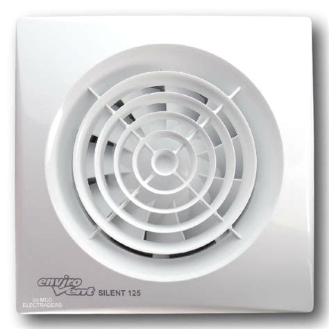 envirovent bathroom extractor fans envirovent silent 125t silent extractor fan 125mm 5 inch
