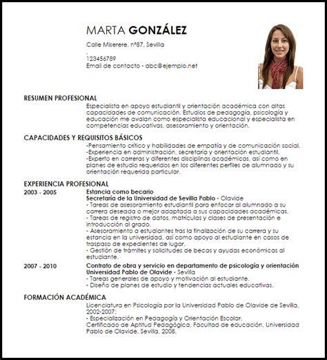 Modelos De Resume by Modelo Curriculum Vitae Especialista En Apoyo A