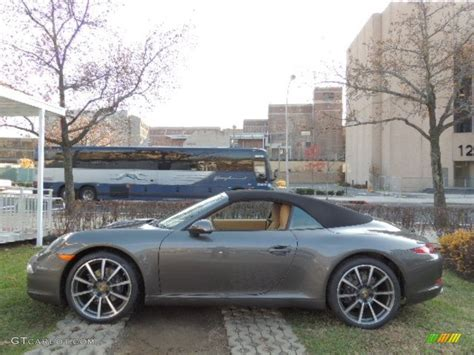 grey porsche 911 convertible 2013 agate grey metallic porsche 911 carrera cabriolet