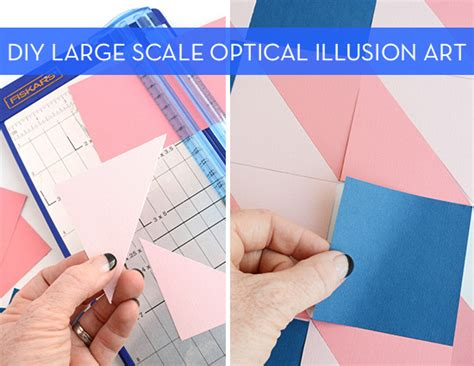 How To Make An Optical Illusion On Paper - how to make easy large scale optical illusion with