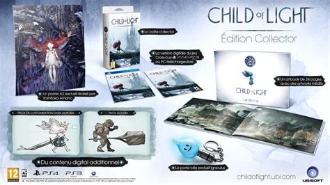 child of light ps3 child of light une 233 dition collector et du cross buy