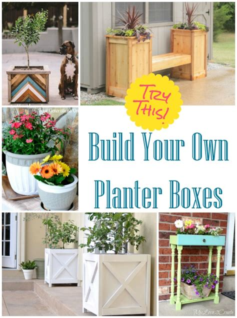 Make Your Own Planters by Try This Make Your Own Planter Boxes Four Generations