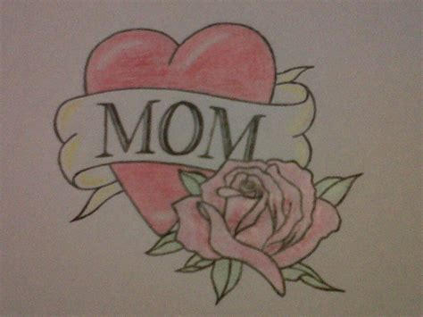 mom heart tattoo my