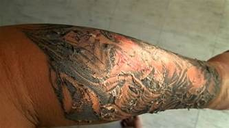 tattoo skin peeling youtube