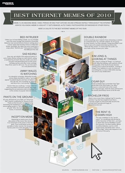 Best Memes Of 2010 - infografik best internet memes of 2010 gilly s playground