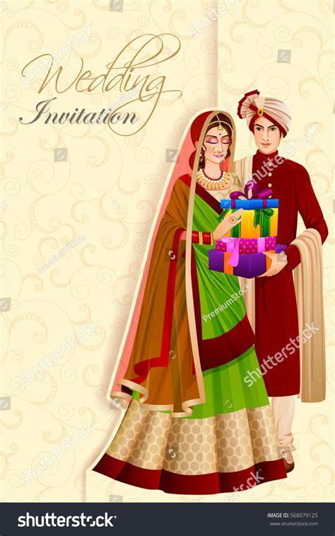 Vector Design Indian Man Couple Gift Stock Vector