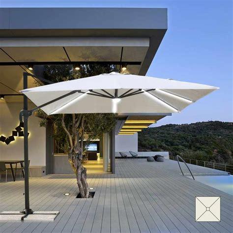 ombrelloni da giardino a braccio ombrellone a braccio da giardino con luce led solare