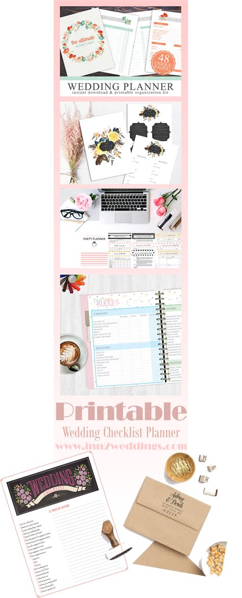 Wedding Checklist And Planner by Printable Wedding Checklist Planner