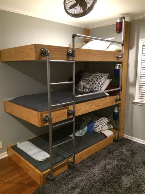 three bed bunk bed 25 best ideas about triple bunk beds on pinterest triple bunk 3 bunk beds and