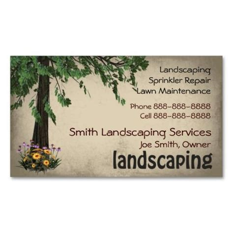 Landscape Business Cards Design Templates by 10 Images About Lawn Care Business Cards On