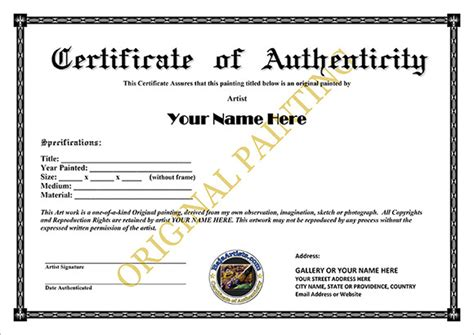 sle certificate of authenticity 8 certificate of authenticity templates free sles