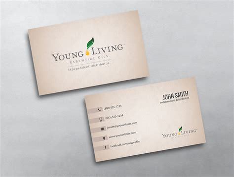 Young Living Business Card 17 Living Business Card Template