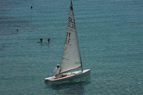 sailing boat europa small boat sailing around vis island archipelago sailing
