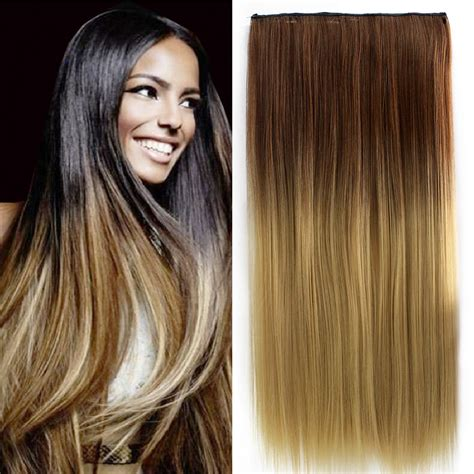 dyed weave hairstyles brown to blonde hair dip dye www pixshark com images