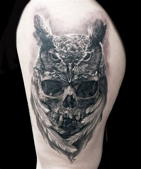 20 owl skull tattoos designs