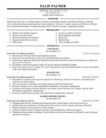 Hotel Guest Service Sle Resume by Guest Service Representative Resume Exles Hotel Hospitality Resume Exles Livecareer