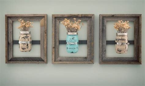 bathroom wall decoration 8 x 10 mason jar frames with painted mason jars jars