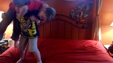 wwe wrestling ring bed wwe kids wrestling using parents bed as ring rey mysterio cries like baby after john