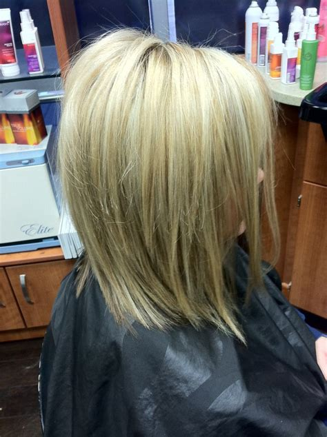 Highlow Hair Color And Cut | short blonde hair high lights low lights fall color