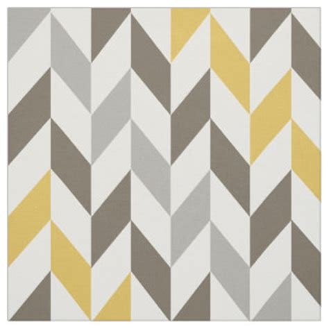 chevron pattern yellow and grey yellow and gray fabric zazzle