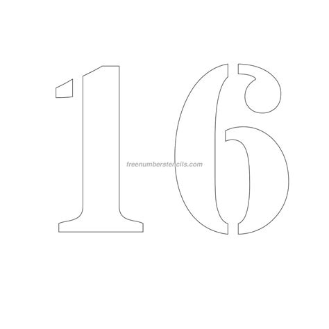 printable number stencils 24 inch free 10 inch 16 number stencil freenumberstencils com