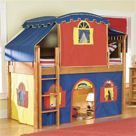 loft bed with tent low loft tent bed gives complete bedroom fun for your kids
