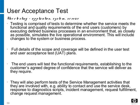 operational acceptance testing template 5 service transition