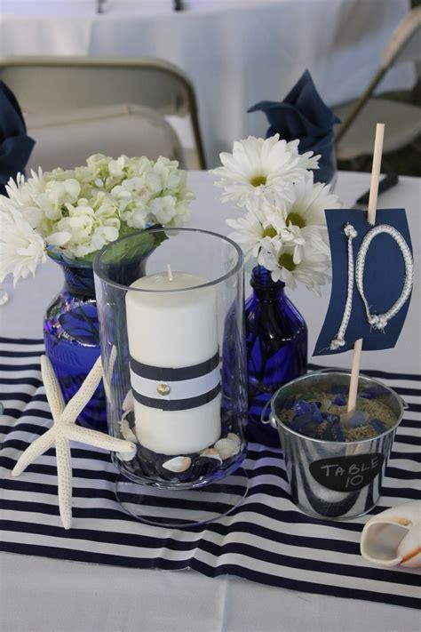 navy blue wedding centerpieces navy blue and white centerpieces wedding ideas