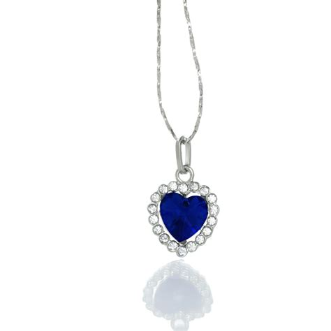 Premium Necklace premium necklace from the titanic inspired necklace blue with white rhinestones