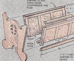 Rocking Chair Crib Combo Woodworking Plan Pattern Baby Infant Dutch Cradle Crib