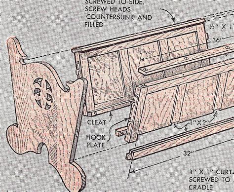 wood pattern pdf woodworking baby cradle patterns free plans pdf download