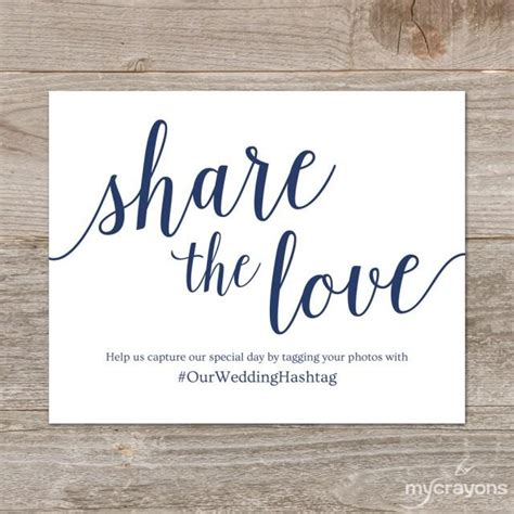 Wedding Hashtag Sign by Wedding Hashtag Sign Printable The Sign