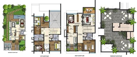 villa floor plans india villa plan modern house