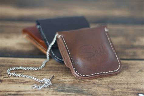 Handmade Leather - handmade leather pocket by sail