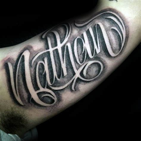 nathan tattoo designs 90 script tattoos for cursive ink design ideas