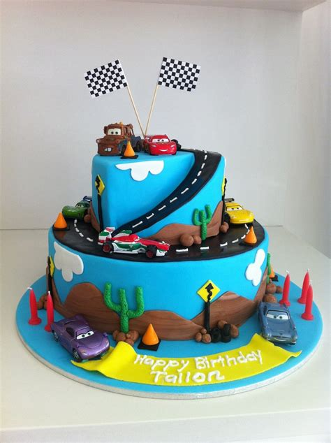 Cars Themed Birthday Cake Ideas by Cars 2 Birthday Cake Cakecentral