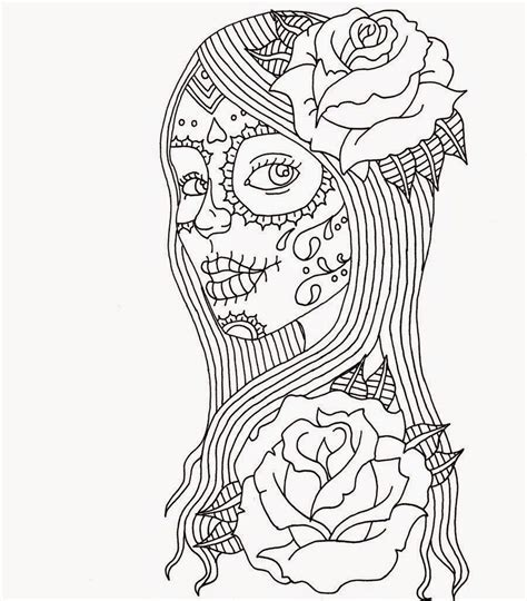 day of the dead catrina coloring pages day of dead girl coloring pages day of the dead coloring