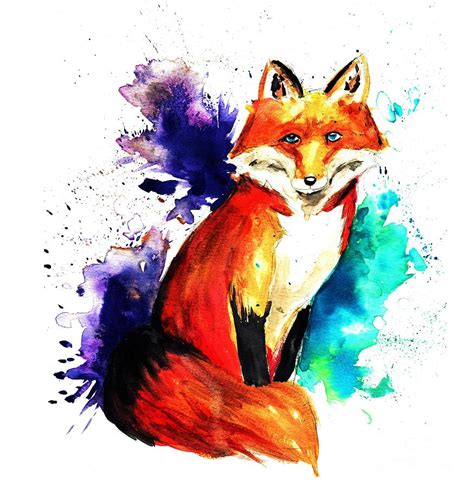fox colors fox colors painting by cherisha norman