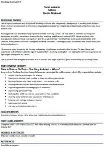 cv example for a teaching assistant lettercv com