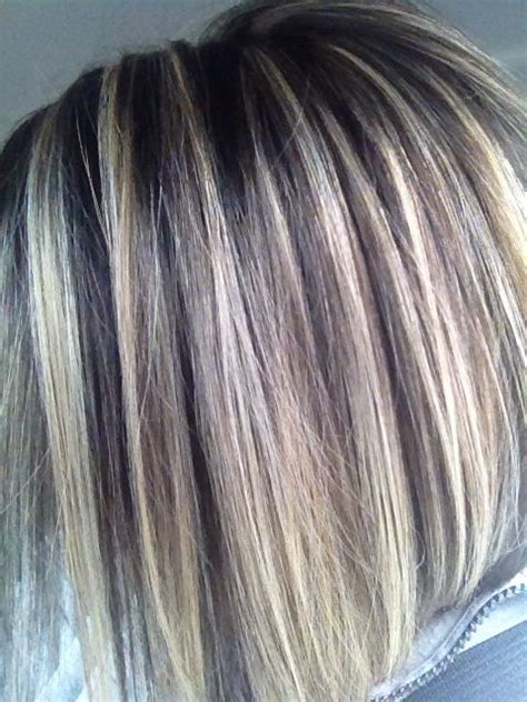pictures of gray hair with lowlights highlights and lowlights stacked bob this is my hair